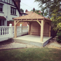 3.0 x 3.0 Douglas Fir Framed Gazebo